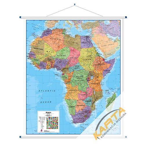 Afryka Mapa Scienna Afryki Polityczna 1 8 Mln 106x120cm