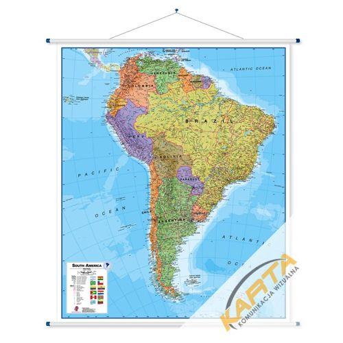 Ameryka Poludniowa Mapa Scienna Ameryki Poludniowej Polityczna 1