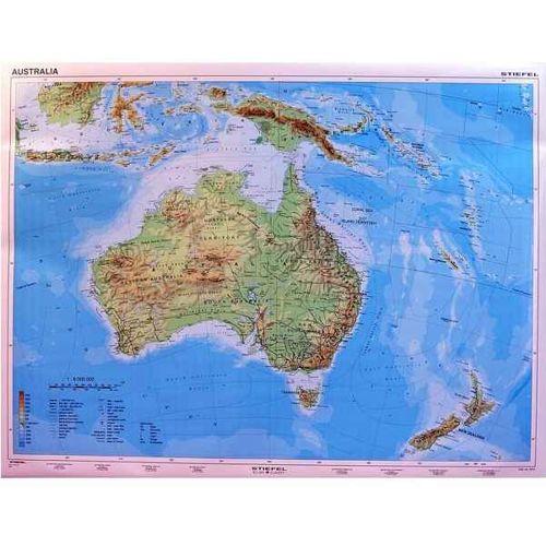 Australia Mapa Scienna Fizyczna Australii 1 6 Mln 150x115cm