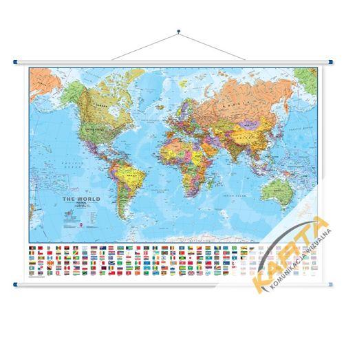 Mapa Scienna Swiata Polityczna 1 30 Mln 140x100 Cm Tablice Z